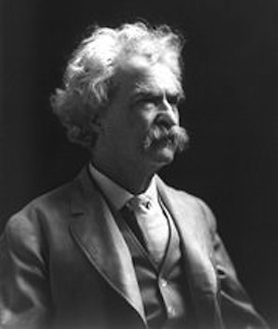 A picture of the author Mark Twain